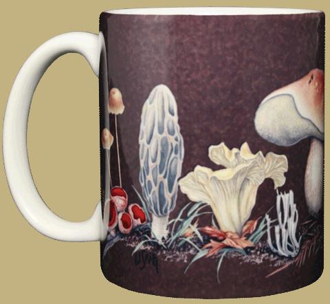 Mushrooms Ceramic Mug - Front