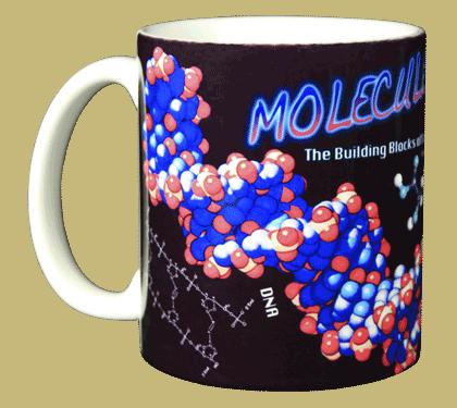 Molecules Ceramic Mug - Front