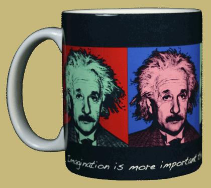 Imagine Einstein Ceramic Mug - Front