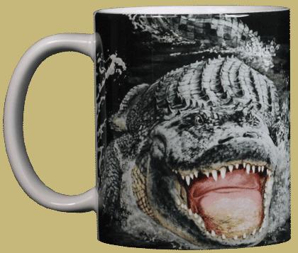 Gator Encounter Ceramic Mug - Front