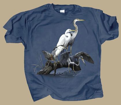 Wading Birds Adult T-shirt