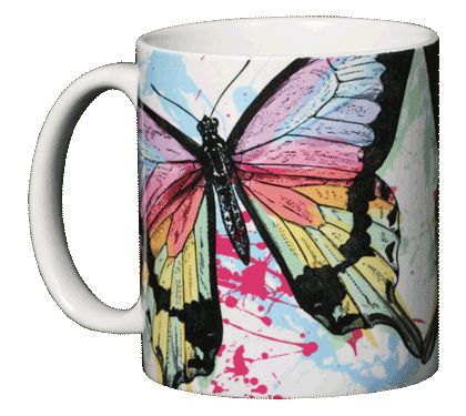 Sun Power Splash Ceramic Mug - Front