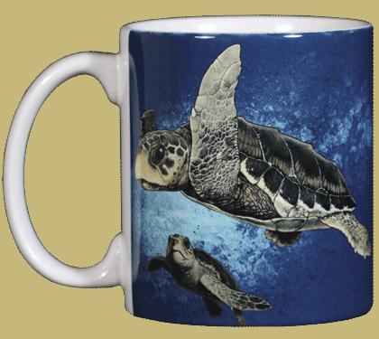 Loggerhead Turtles Ceramic Mug - Front