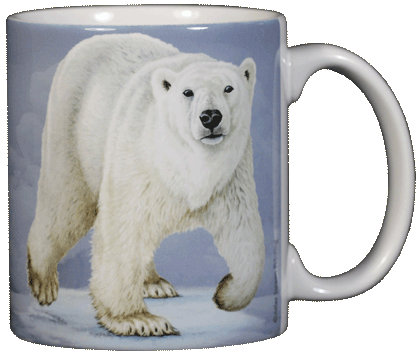 Polar Bear Ceramic Mug - Back