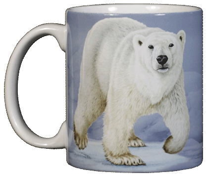 Polar Bear Ceramic Mug - Front