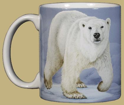 Polar Bear Ceramic Mug - Front