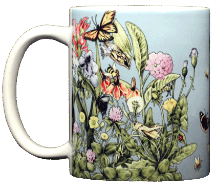 Roadside Flowers Ceramic Mug - Front