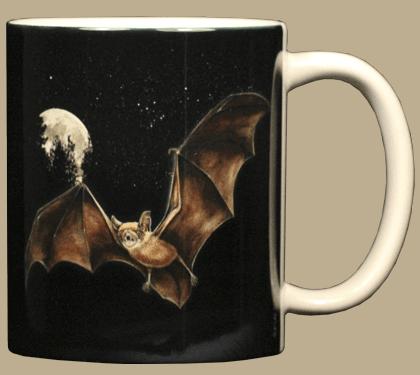 Moon Bat Ceramic Mug