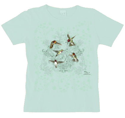 Hummingbird Lace Ladies Scoop Neck Tee