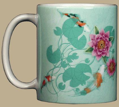 Zen Koi Ceramic Mug - Front