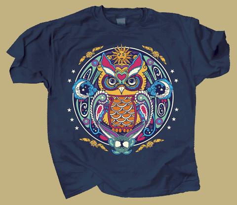 Owl Hex Adult T-shirt