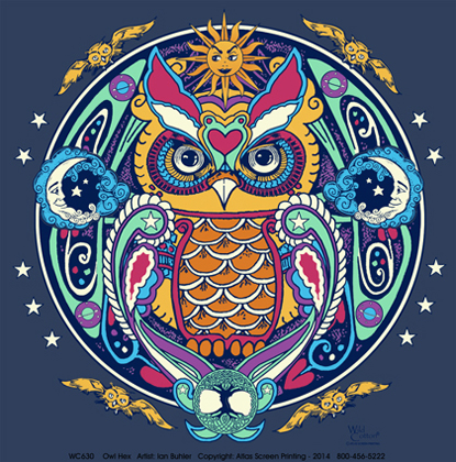 Owl Hex Adult T-shirt