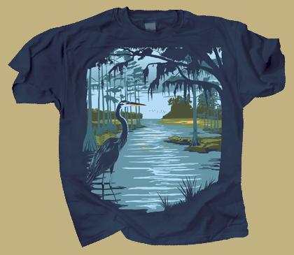 Swamp Life Adult T-shirt
