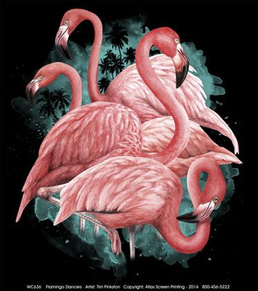 Flamingo Dancers Ladies Scoop Neck Tee - DC