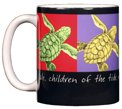 Imagine Sea Turtles Ceramic Mug - Front