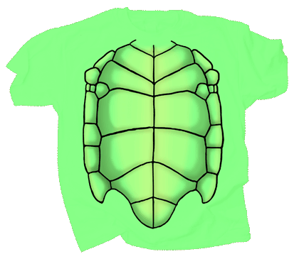 Sea Turtle Shell Youth T-shirt - Front