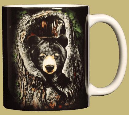 Sleepy Bear Ceramic Mug - Back