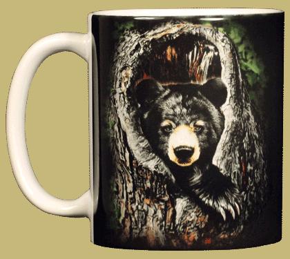 Sleepy Bear Ceramic Mug - Front