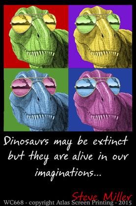 "Imagine T-Rex 2"" X 3"" Magnet"