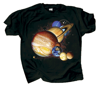 Planets & Dwarf Planets Youth T-shirt (2 Sided Version)