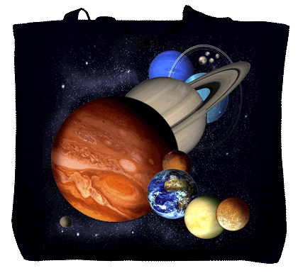 Planets & Dwarf Planets Canvas Tote - Front