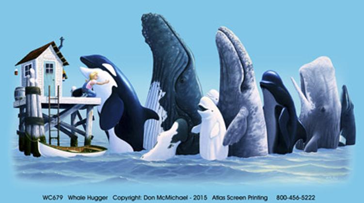 Whale Hugger Adult T-shirt