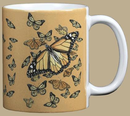 Monarch Kaleidoscope Ceramic Mug - Back