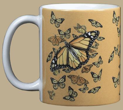 Monarch Kaleidoscope Ceramic Mug - Front