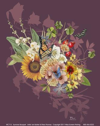 Summer Wildflowers Ladies Scoop-Neck Tee