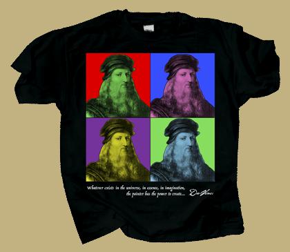 Imagine DaVinci Adult T-shirt