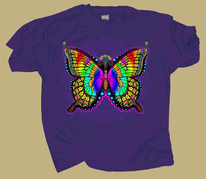 In A Gadda Da Butterfly Adult T-shirt