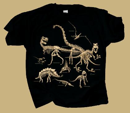 Dinosaur Bones Youth T-shirt