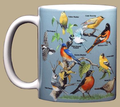 Yard Birds Ceramic Mug - Front