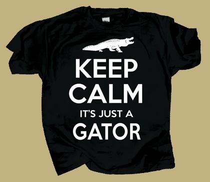 Keep Calm Gator Adult T-shirt