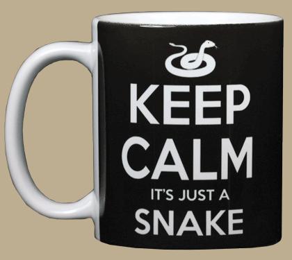 Keep Calm Snake Ceramic Mug - Front