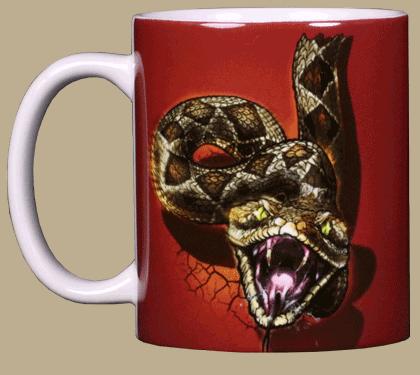 Rattler Heads & Tails Ceramic Mug - Front