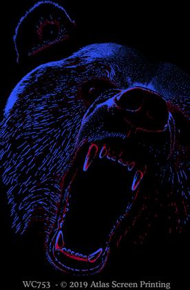"Extreme Black Bear 2"" X 3"" Magnet"