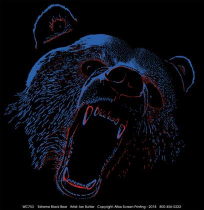 Extreme Black Bear Adult T-shirt