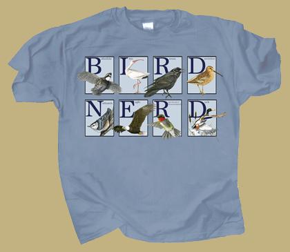 Bird Nerd Adult T-shirt