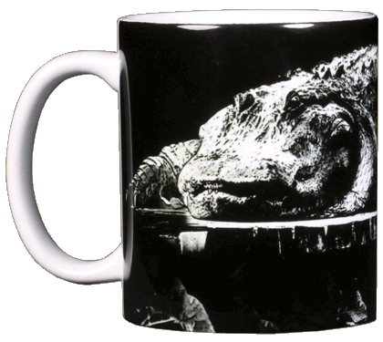 Dockside Gator Ceramic Mug - Front