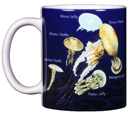 Jellyfish Glow Ceramic Mug - Front