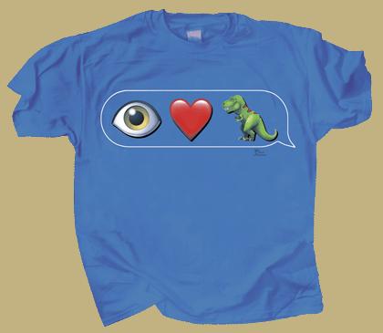 I Love T-Rex Emojis Youth T-shirt