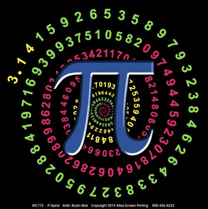 Pi Spiral Adult T-shirt