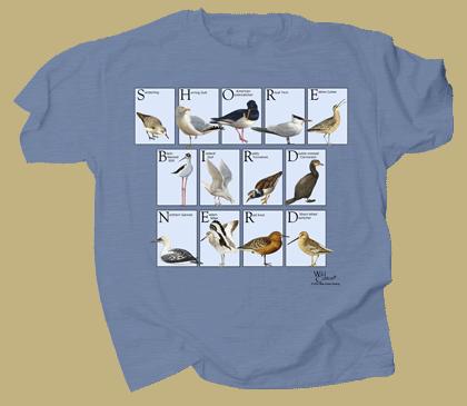 Shorebird Nerd Adult T-shirt