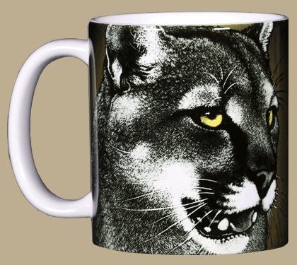 Eye of the Panther Ceramic Mug - Front