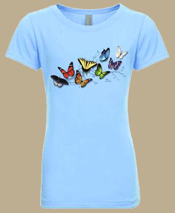 Butterfly Fancy Girls T-shirt