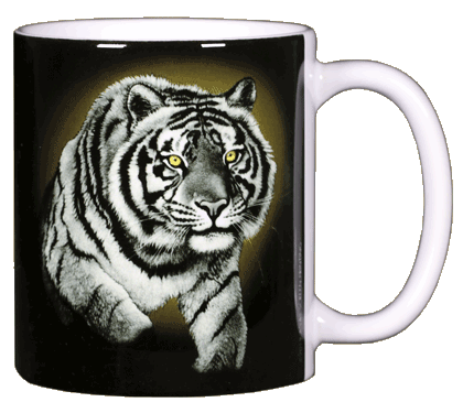 Eye of the Tiger Ceramic Mug - Back