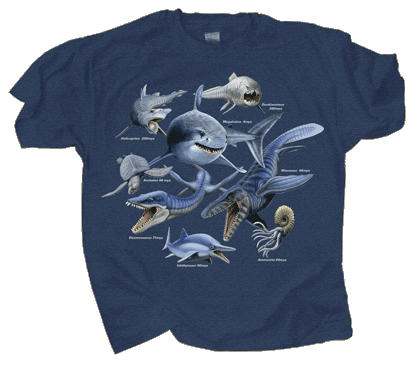 Monsters of the Deep Adult T-shirt