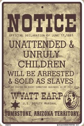 Unruly Children Sign