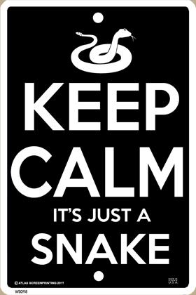 Keep Calm Snake Sign